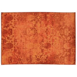 PANTONE UNIVERSE? Expressions Ornate Orange Floral Rug