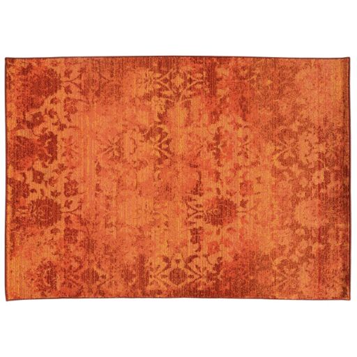 PANTONE UNIVERSE™ Expressions Ornate Orange Floral Rug