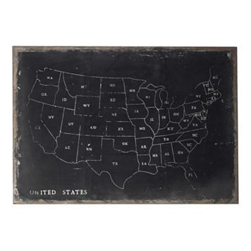 Sterling ''USA Map'' Canvas Wall Art