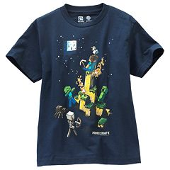 Boys 8-20 Minecraft Tight Space Tee