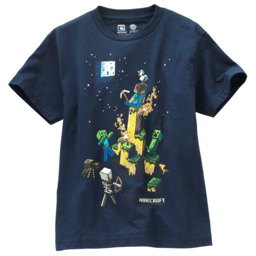 Boys 8-20 Minecraft Tight Space Tee