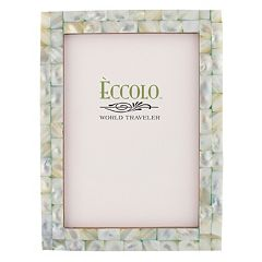 World Traveler Mother of Pearl Frame