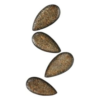 Sterling 4-piece ''Ainsdale'' Metal Leaves Wall Decor Set