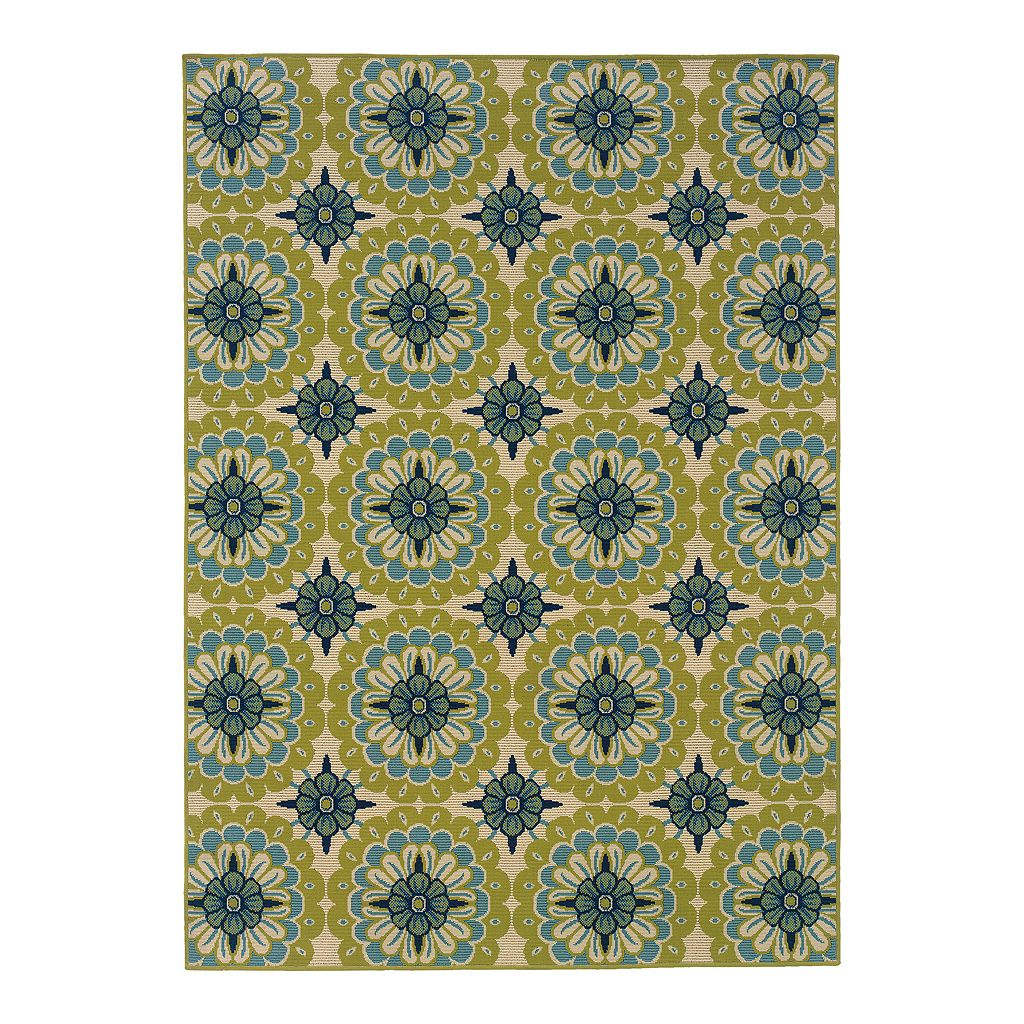 StyleHaven Cayman Floral Medallion Indoor Outdoor Rug