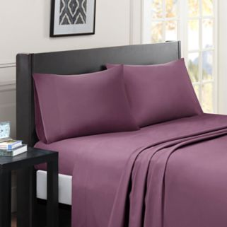 Madison Park Essentials Micro Splendor Solid Sheets