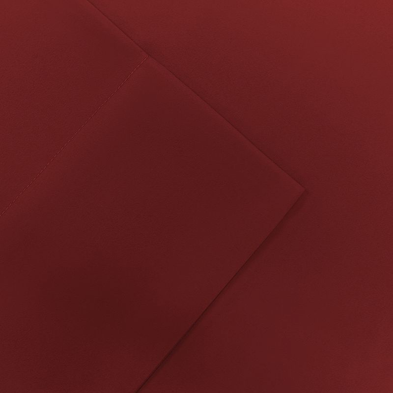 Micro Splendor Solid Sheet Set - Red - Twin