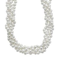 PearLustre by Imperial Freshwater Cultured Pearl Sterling Silver Multistrand Necklace