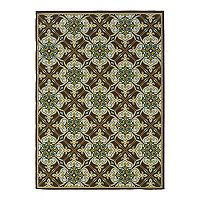 StyleHaven Cayman Damask Indoor Outdoor Rug