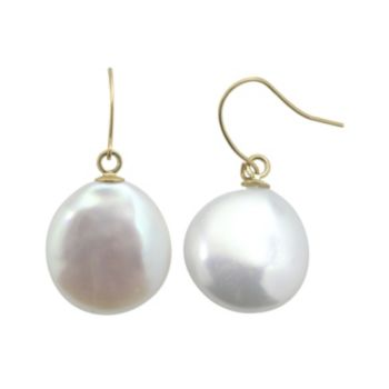 PearLustre by Imperial Freshwater Cultured Pearl 10k Gold Drop Earrings