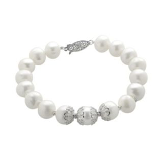 PearLustre by Imperial Freshwater Cultured Pearl Sterling Silver Bracelet