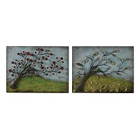 Sterling 2 pc ''Autumn & Spring'' Metal Wall Decor Set