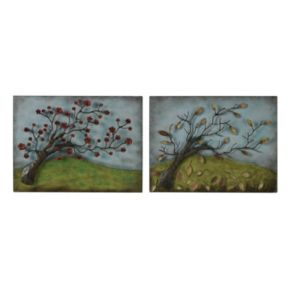 Sterling 2-piece ''Autumn and Spring'' Metal Wall Decor Set