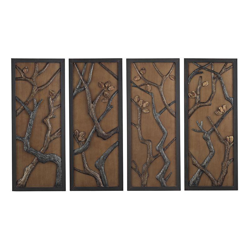 Wall decor in kohls : Sterling piece  hiatus framed metal wall decor set