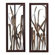Sterling 2 pc ''Hayfield Grass'' Framed Metal Wall Decor Set