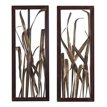 Sterling 2-piece ''Hayfield Grass'' Framed Metal Wall Decor Set