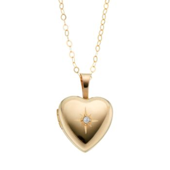 Charming Girl 14k Gold-Filled Heart Locket - Kids