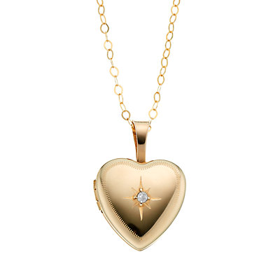 Charming Girl 14k Gold-Filled Heart Locket - Kids