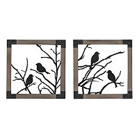 Sterling 2 pc ''Ollerton'' Perched Birds Framed Wall Art Set