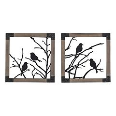 Sterling 2-piece ''Ollerton'' Perched Birds Framed Wall Art Set