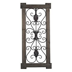 Sterling ''Hatfield'' Scrollwork Framed Metal Wall Decor