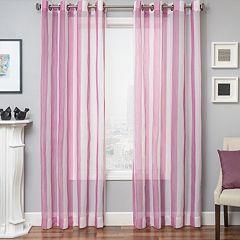 Softline Laguna Stripe Sheer Window Curtain