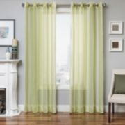 Softline 1-Panel Laguna Stripe Sheer Window Curtain