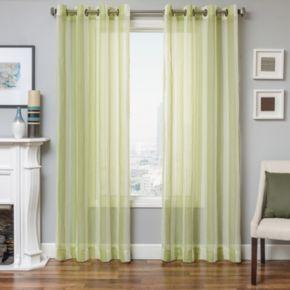Softline 1-Panel Laguna Stripe Sheer Window Curtain