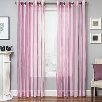 Softline Laguna Stripe Sheer Curtain - 50'' x 96''