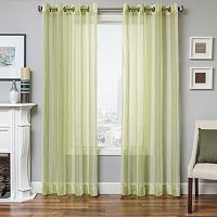 Softline Laguna Stripe Sheer Window Curtain - 50'' x 96''