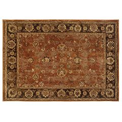 StyleHaven Cadence Burnt Orange Framed Rug