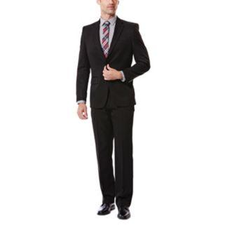 Men's Haggar Tailored-Fit Travel Performance Black Gabardine Suit Jacket