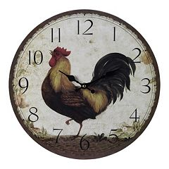 Sterling Rooster Wall Clock
