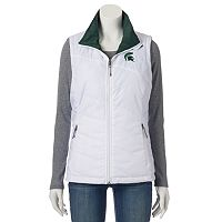 Women's Columbia Michigan State Spartans Reversible Powder Puff Vest