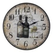 Sterling Paris Wine Wall Clock