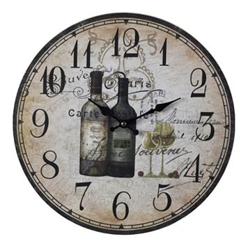 Sterling Paris Wine Wall Clock