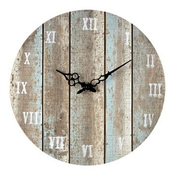 Sterling Weathered Wood Wall Clock