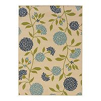 StyleHaven Cayman Floral Leaf Indoor Outdoor Rug