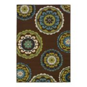 StyleHaven Cayman Medallion Indoor Outdoor Rug