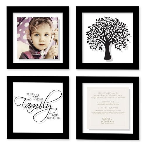 4 Piece Matted Floating Frame Set