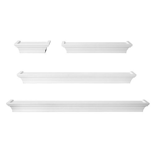 Melannco 4-piece Wall Shelf Set