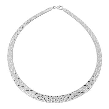 Silver Classics Sterling Silver Omega Necklace