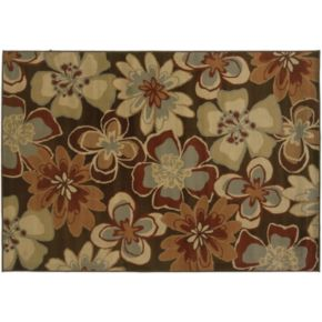 StyleHaven Dover Brown Floral Rug