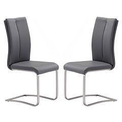 Zuo Modern 2 pc Rosemont Dining Chair Set