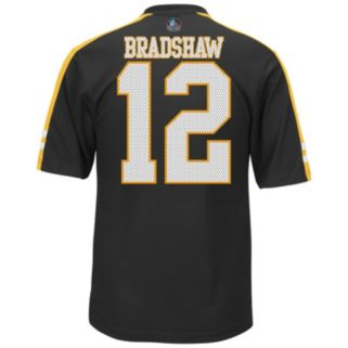 Men's Majestic Pittsburgh Steelers Terry Bradshaw Hall of Fame Hashmark Player Top