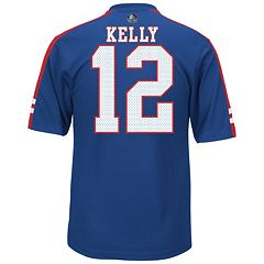Men's Majestic Buffalo Bills Jim Kelly Hall of Fame Hashmark Player Top