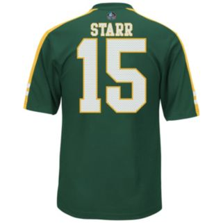 Men's Majestic Green Bay Packers Bart Starr Hall of Fame Hashmark Player Top