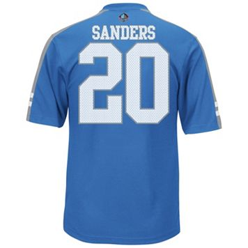 Men's Majestic Detroit Lions Barry Sanders Hall of Fame Hashmark Player Top