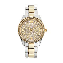 Women's Crystal Pave Two Tone Watch