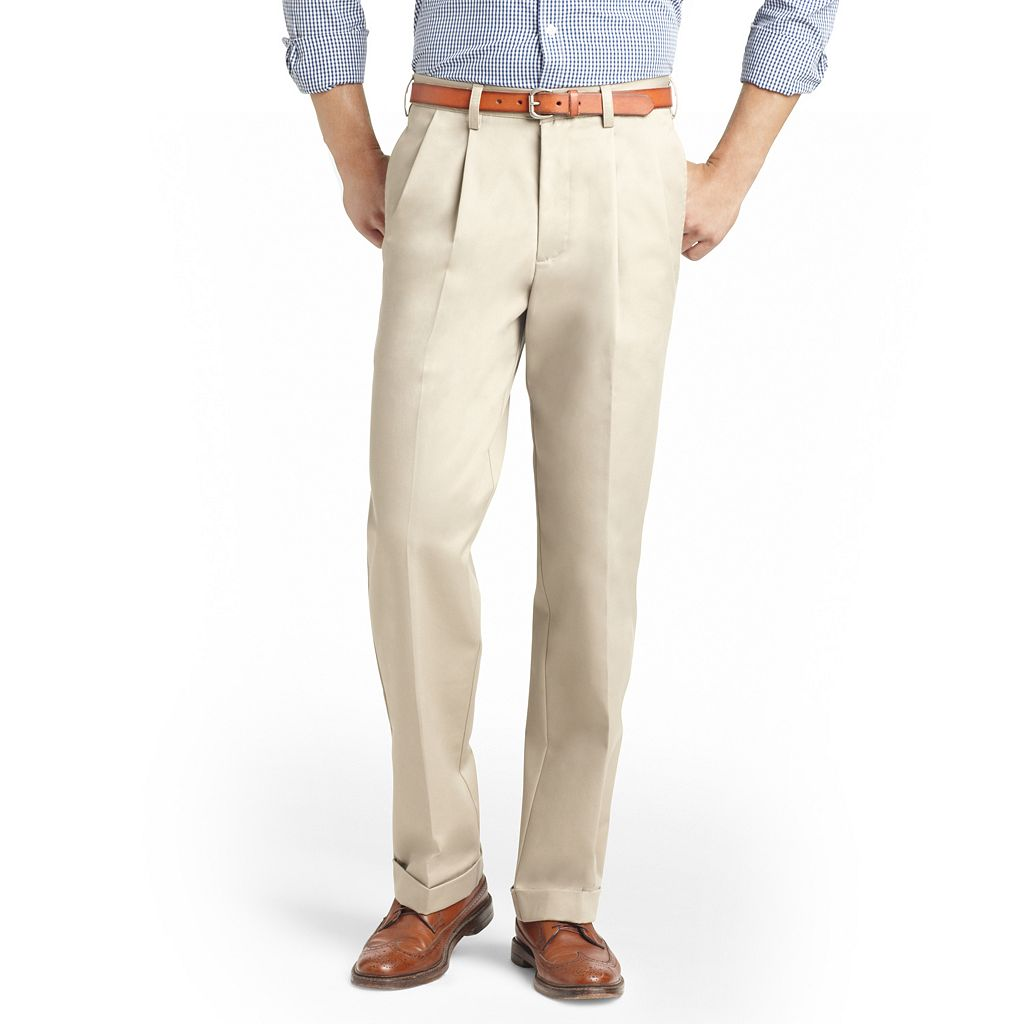 Big & Tall IZOD Pleated Chino Pants