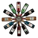 Sterling Audubon Wine Bottle Wall Clock